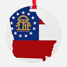 Georgia State Flag and Map Ornament