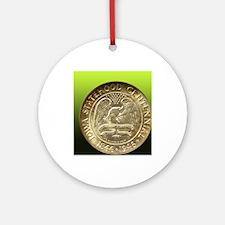 Iowa Centennial Half Dollar Coin  Round Ornament