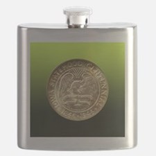 Iowa Centennial Half Dollar Coin  Flask