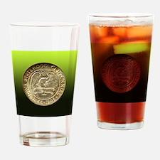 Iowa Centennial Half Dollar Coin  Drinking Glass