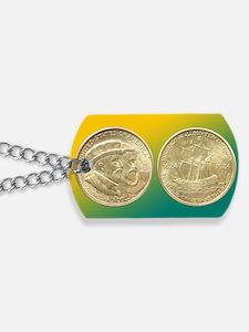 Huguenot-Walloon Half Dollar Coin  Dog Tags