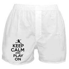 Keep calm and play Racquetball Boxer Shorts
