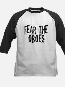 Funny Oboe Fear Kids Baseball Jersey