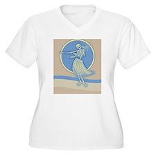 hula-skeleton-blu T-Shirt