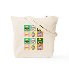Pop Art Sock Monkey Tote Bag