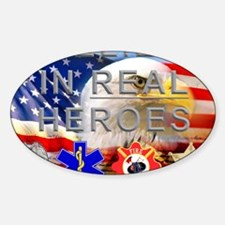 Real Heroes Civilian Sticker (Oval)