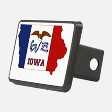 Iowa State Flag and Map Hitch Cover