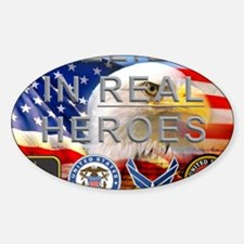 Real Heroes Military Sticker (Oval)