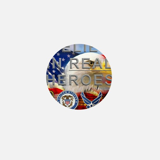 Real Heroes Military Mini Button