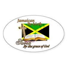 Jamaican by birth Oval Decal