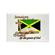 Jamaican by birth Rectangle Magnet