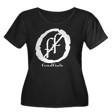 ff white Women's Plus Size Dark Scoop Neck T-Shirt