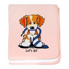 Let's Go! Brittany baby blanket
