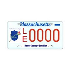 MA law enforcement support  Aluminum License Plate