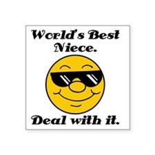 "Worlds Best Niece Humor Square Sticker 3"" x 3"""
