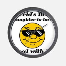 Worlds Best Daughter-In-Law Humor Wall Clock