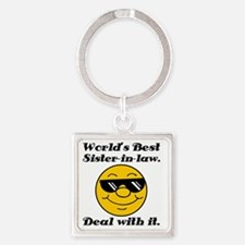 Worlds Best Sister-In-Law Humor Square Keychain