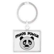 Panda Power Landscape Keychain