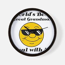 Worlds Best Great Grandma Humor Wall Clock