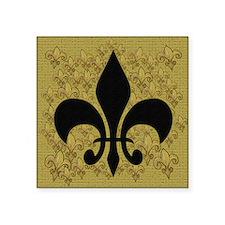 """Black Fleur de lis Square Sticker 3"""" x 3"""""""