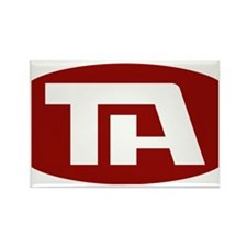 Trans American Airlines Logo Rectangle Magnet