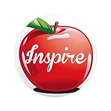 "Inspire Apple for Teacher 3.5"" Button"