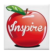 Inspire Apple for Teacher Tile Coaster