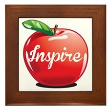 Inspire Apple for Teacher Framed Tile