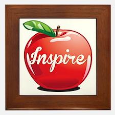 Inspire Apple for Teacher Framed Tile