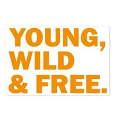 Young, Wild &Free Postcards (Package of 8)