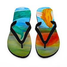 Sunset Mermaid Flip Flops