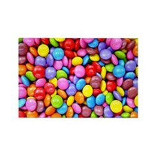 Colorful Candies Rectangle Magnet