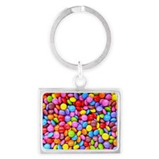 Colorful Candies Landscape Keychain