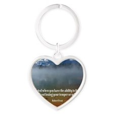 271-Frost: Educated Heart Keychain