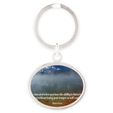 271-Frost: Educated Oval Keychain