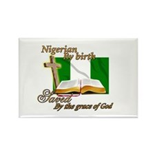 Nigerian by birth Rectangle Magnet (100 pack)