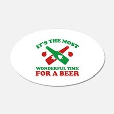 It's The Most Wonderful Time For A Beer 22x14 Oval