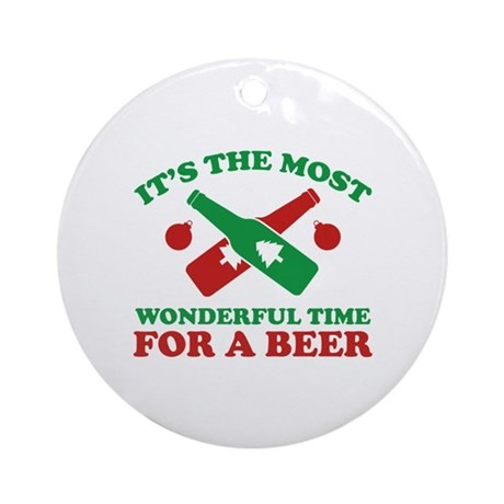 It's The Most Wonderful Time For A Beer Ornament (
