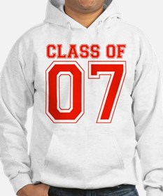 Class Of 07 (Red Varsity Letters) Hoodie