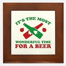 It's The Most Wonderful Time For A Beer Framed Til