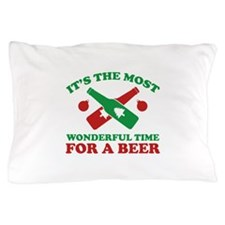 It's The Most Wonderful Time For A Beer Pillow Cas