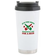 It's The Most Wonderful Time For A Beer Thermos Mug