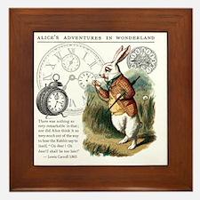 The White Rabbit Alice in Wonderland T Framed Tile
