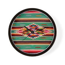 Southwest Weaving Wall Clock