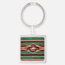 Southwest Weaving Square Keychain