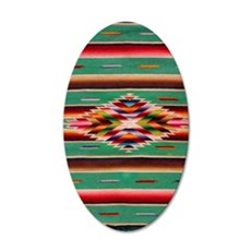 Southwest Weaving 35x21 Oval Wall Decal