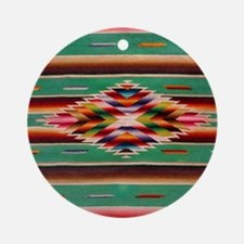 Southwest Weaving Round Ornament