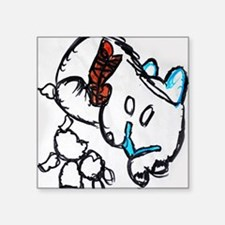"""Abstract Kitty Kat Square Sticker 3"""" x 3"""""""