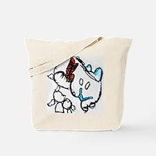 Abstract Kitty Kat Tote Bag