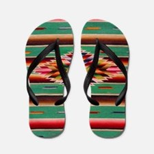 Southwest Weaving Flip Flops